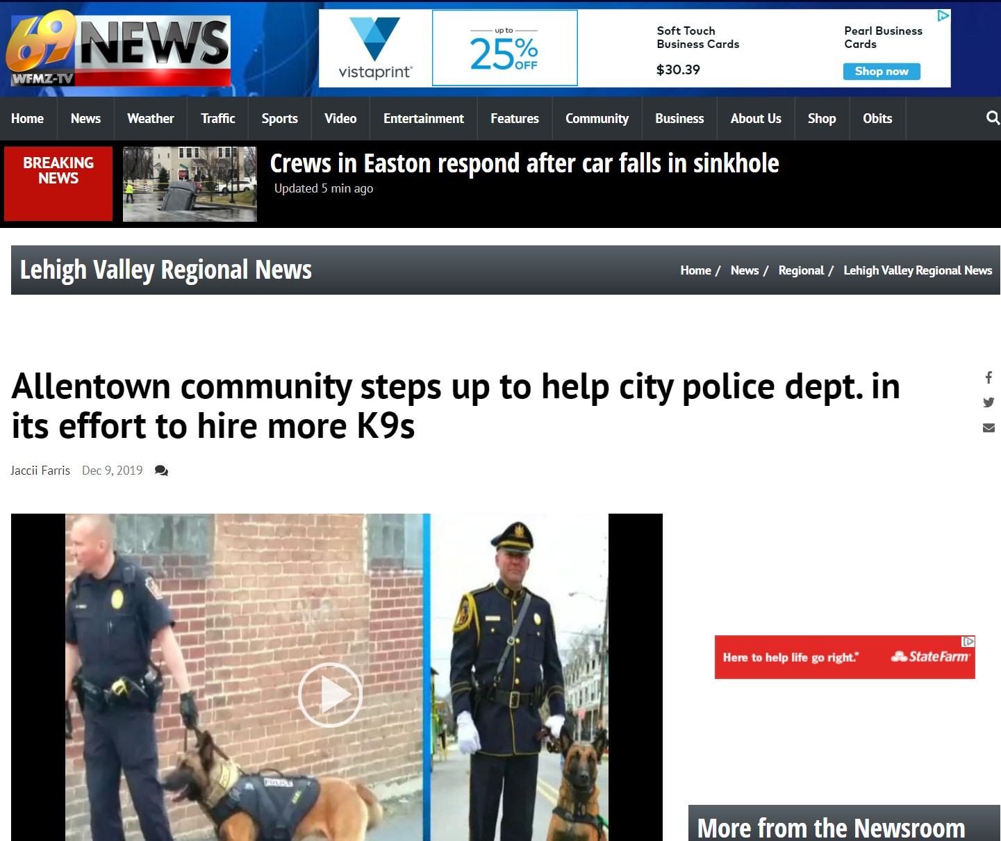 Allentown community steps up to help city police dept. in its effort to hire more K9s