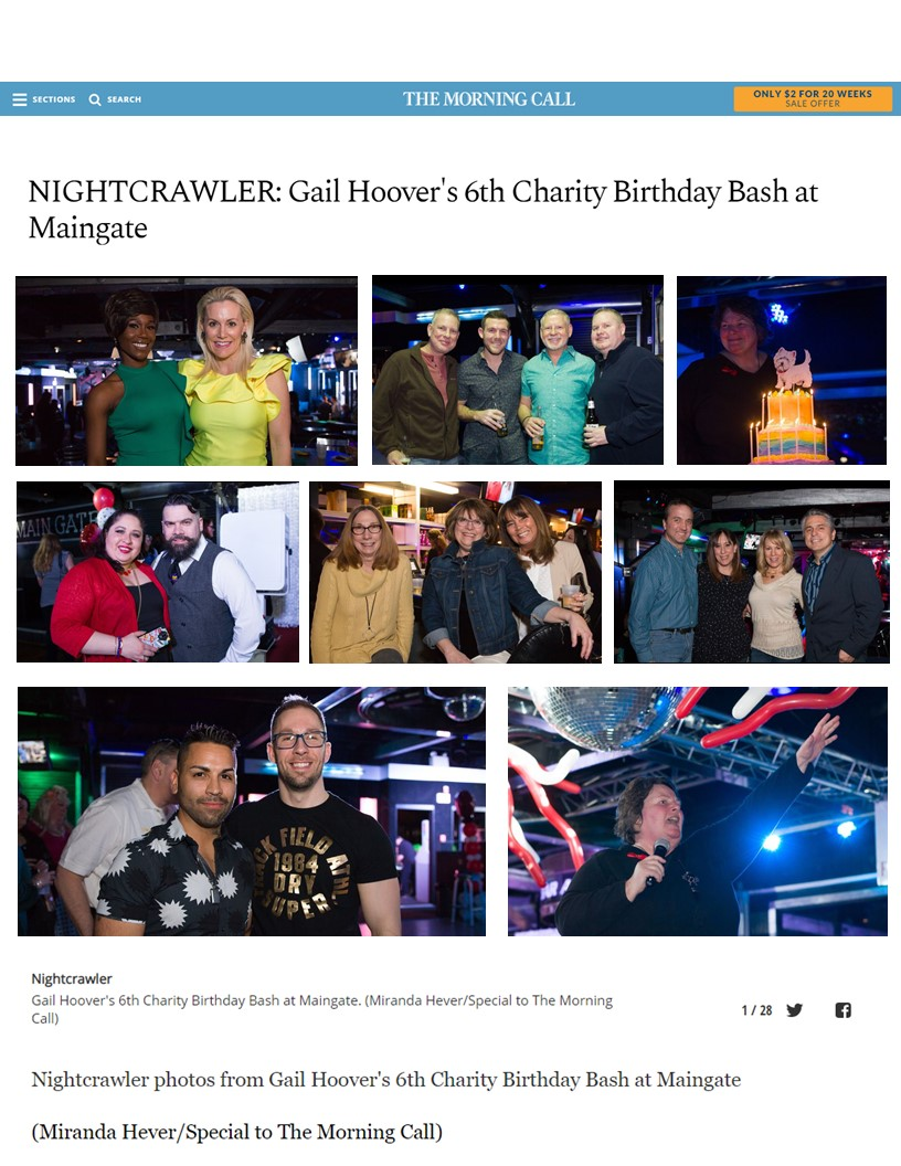 2018 Morning Call -NIGHTCRAWLER Gail Hoover's 6th Charity Birthday Bash at Maingate