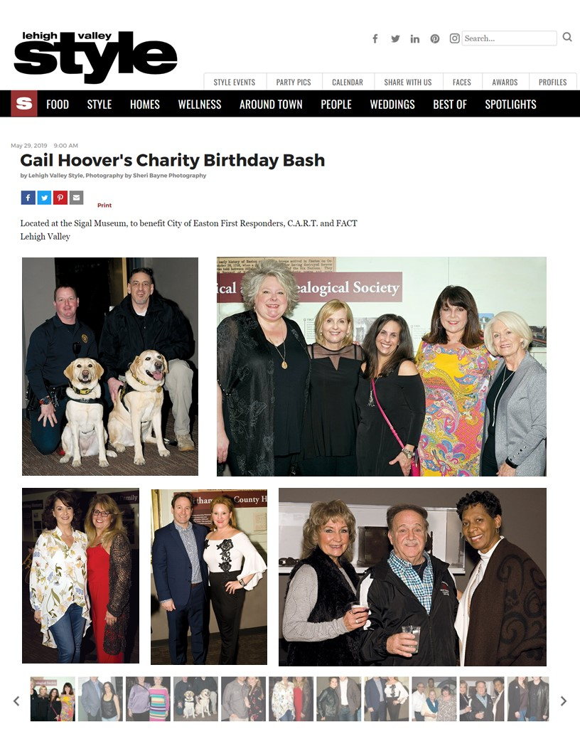 2019 Style Magazine -Gail Hoovers Birthday Bash - May 29, 2019